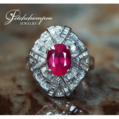 [022719] Ruby With Diamond Ring Discount 59,000