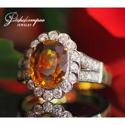 [023177] Yellow Sapphire With Diamond Ring Discount 79,000