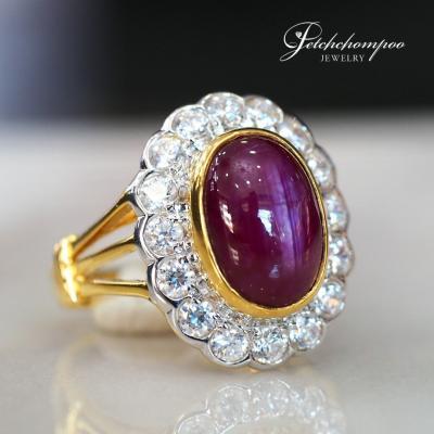 [25320] แหวนทับทิมล้อมเพชร  39,000