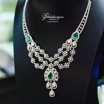[017015] Emerald necklace with diamond  499,000