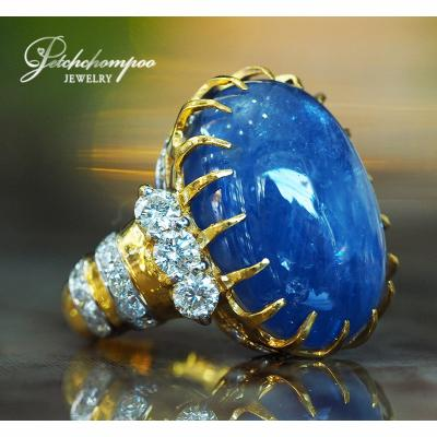 [022793] 41 Carats Myanmar Blue Sapphire With Diamond Ring  179,000