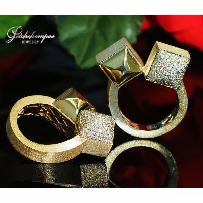 [022952] Italy Pink Gold with diamond Ring Discount 59,000