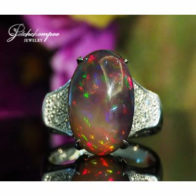 [022898] 6.40 Carats Opal with Diamond Ring Discount 59,000