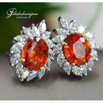 [022636] Yellow Sapphire With Diamond Earring Discount 249,000