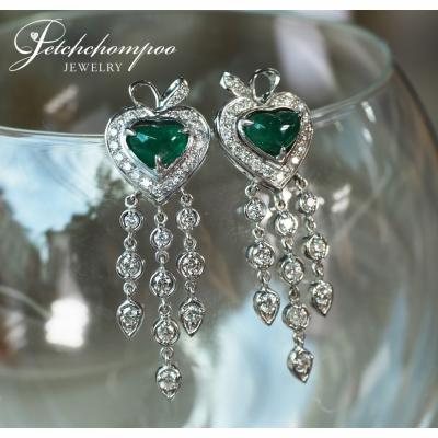[024513] Emerald and diamond earring Discount 69,000