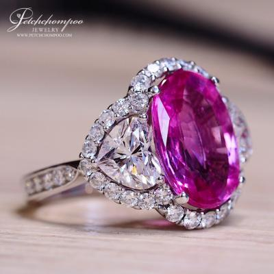 [018361] Vivid Pink Sapphire Ring 4.41 ct  Certificate GRS  Discount 590,000