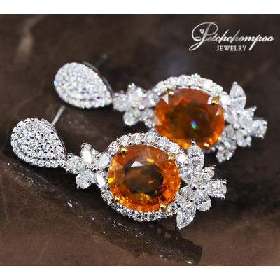 [023035] Yellow Sapphire With Diamond Earring Discount 259,000