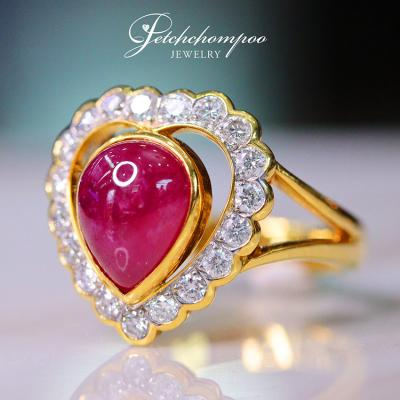 [009891] Ruby with diamond ring Discount 19,900