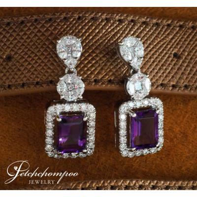 [024584] Amethyst with white Diamond Earring Discount 79,000
