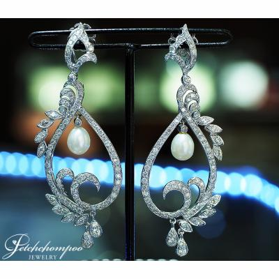 [024064] Pearl with diamond earring Discount 59,000