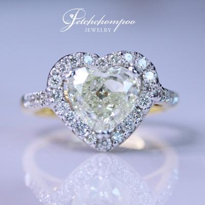 [018880] Fancy Yellow 2.30 cts diamond Ring Discount 299,000