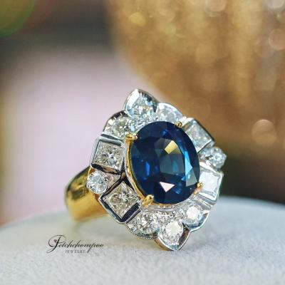 [022913] Blue Sapphire With Diamond Ring Discount 99,000