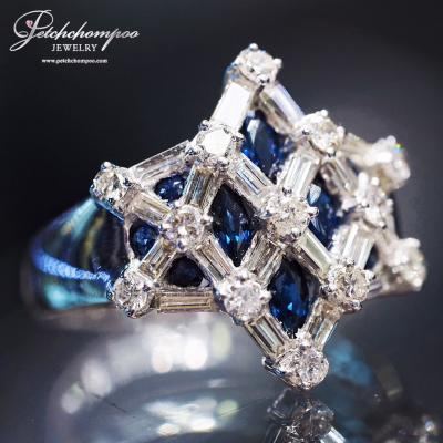 [023564] Blue sapphire with diamond ring Discount 49,000