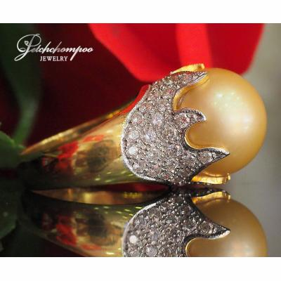 [023164] golden South Sea with diamond ring  69,000