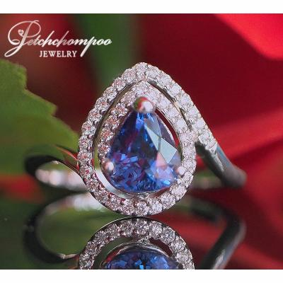 [023171] Blue Sapphire With Diamond Ring Discount 39,000