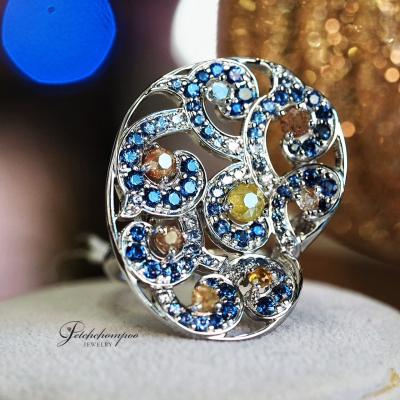 [023800] Blue sapphire with diamond ring Discount 89,000
