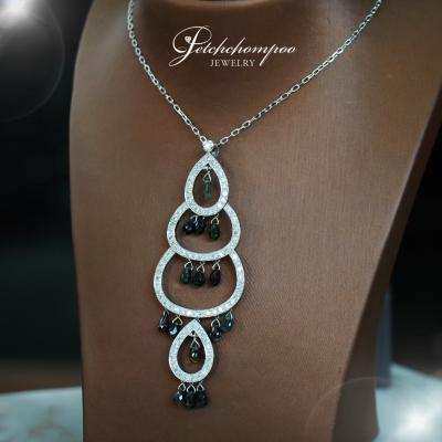 [25350] สร้อยพร้อมจี้เพชร Black and White diamond  109,000