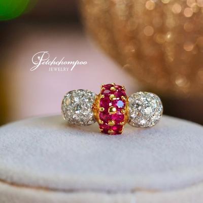 [25552] แหวนทับทิมฝังเพชร  39,000