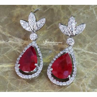 [025022] Ruby and diamond earrings Discount 99,000