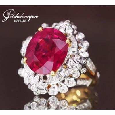 [023725] Rubellite With diamond ring Discount 99,000
