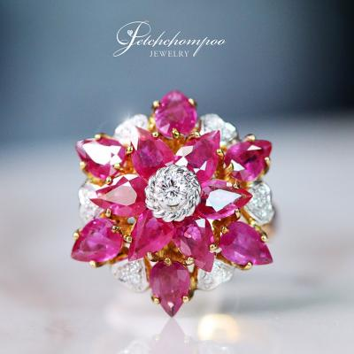 [022782] Ruby with Diamond Ring Discount 55,000