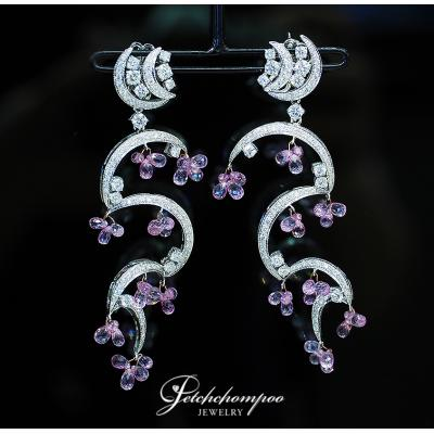 [024039] Pink Sapphire and diamond earring Discount 159,000