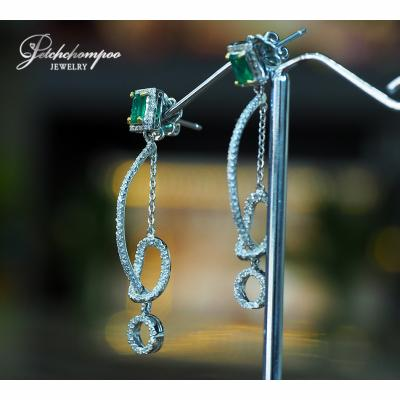 [023297] Emerald with diamond earring Discount 39,000