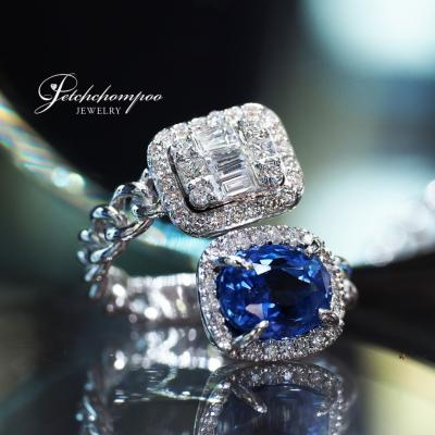 [25233] แหวนไพลินไขว้เพชร ลดราคาเหลือ 99,000