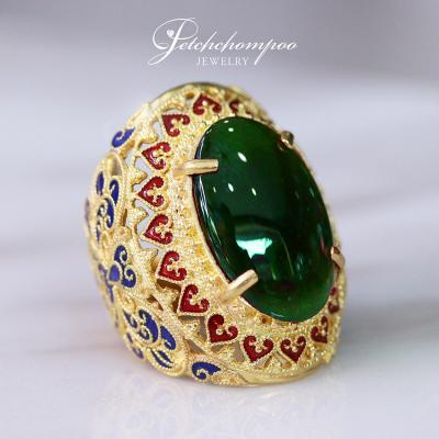 [020378] Jade 12.82 cts  ring AIGS Discount 299,000