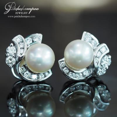 [024636] Pearl WITH DIAMOND Earring Discount 25,000