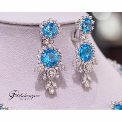 [023810] Blue Topaz With Diamond Earring Discount 159,000