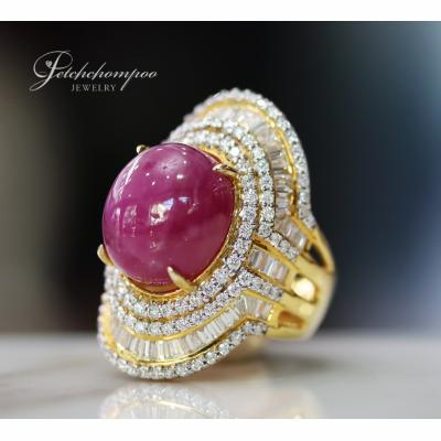 [025160] 23 Carat Ruby with Diamond Ring Discount 99,000