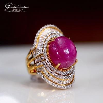 [025160] แหวนทับทิม 23 กะรัตล้อมเพชร ลดราคาเหลือ 99,000