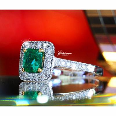 [020479] Emerald 0.82 cts diamond ring  39,000