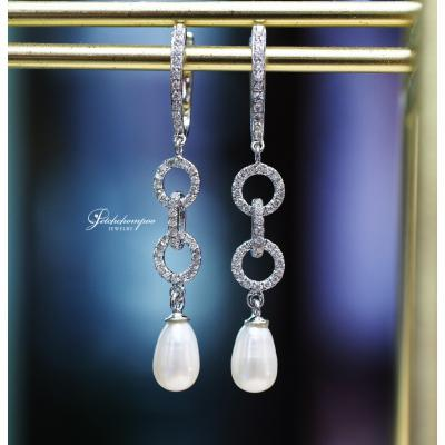 [024950] Diamond and pearl Earring Discount 29,000