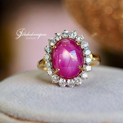 [023830] Star Ruby with diamond ring Discount 69,000