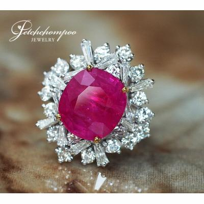 [022707] Myanmar Ruby With Diamond  Ring Discount 590,000