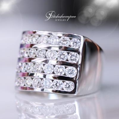 [25398] แหวนเพชรสี่แถวหน้ากว้าง  69,000