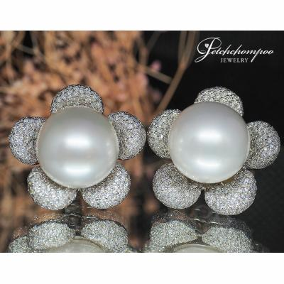 [024161] South Sea with diamond earring Discount 129,000