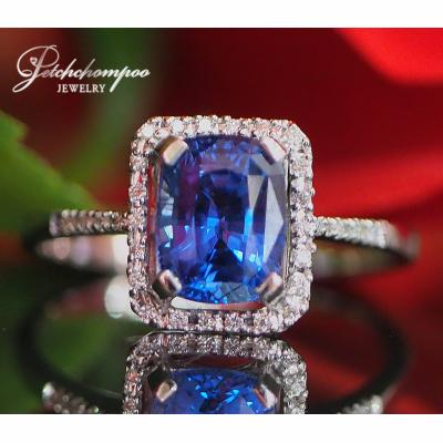 [023175] Blue Sapphire With Diamond Ring Discount 39,000