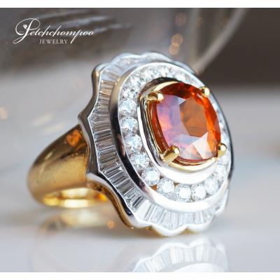 [024380] Yellow Saphire with diamond ring Discount 79,000