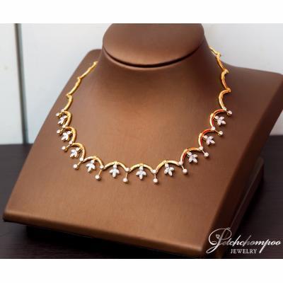 [022724] สร้อยคอทองคำฝังเพชร ลดราคาเหลือ 139,000