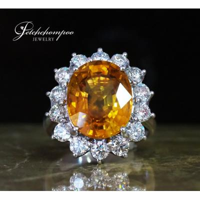 [025002] Yellow Saphire with diamond ring Discount 169,000