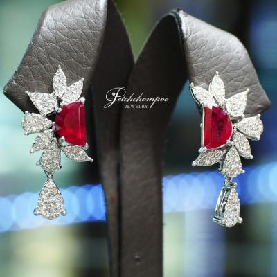[25198] Burma Ruby earring with AIGS Certificate Discount 179,000