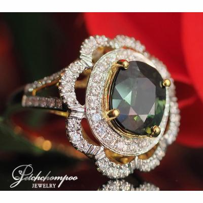 [023176] Green Sapphire With Diamond Ring Discount 59,000