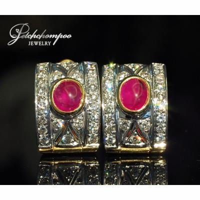 [022920] Ruby with diamond earring  89,000