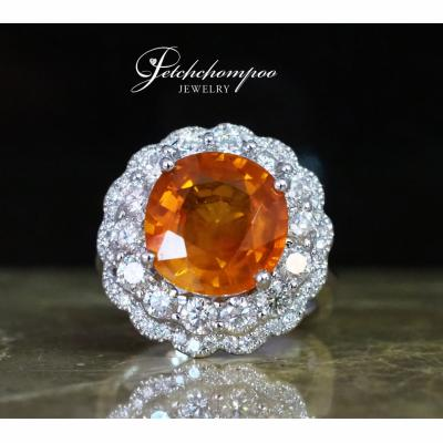 [025001] Yellow Saphire with diamond ring Discount 119,000