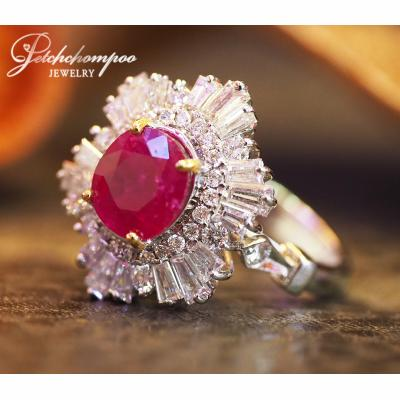 [023535] 2.18 Carat Myanma ruby with diamond Ring Discount 89,000