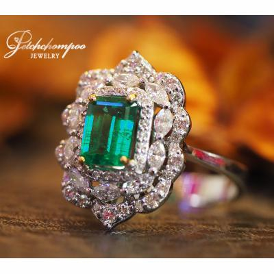 [023539] Emerald With Diamond Ring Discount 69,000