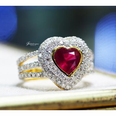 [024921] Ruby and diamond rings Discount 39,000